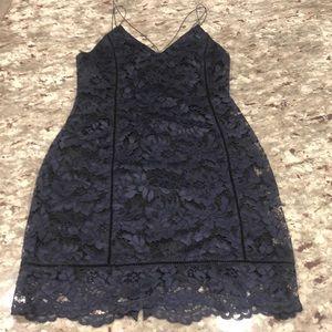 ASTR Blue/Black Lace Dress NWOT Sz M